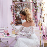 25+ Long Sleeve Off The Shoulder Wedding Dresses