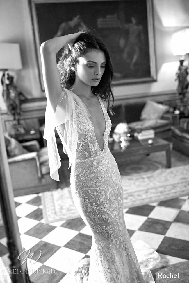 A Gali Karten lace mermaid wedding dress