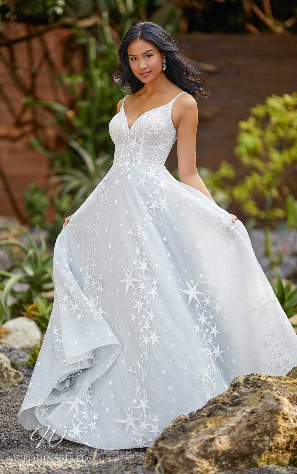 An Essense of Australia tulle A-line wedding dress with star print