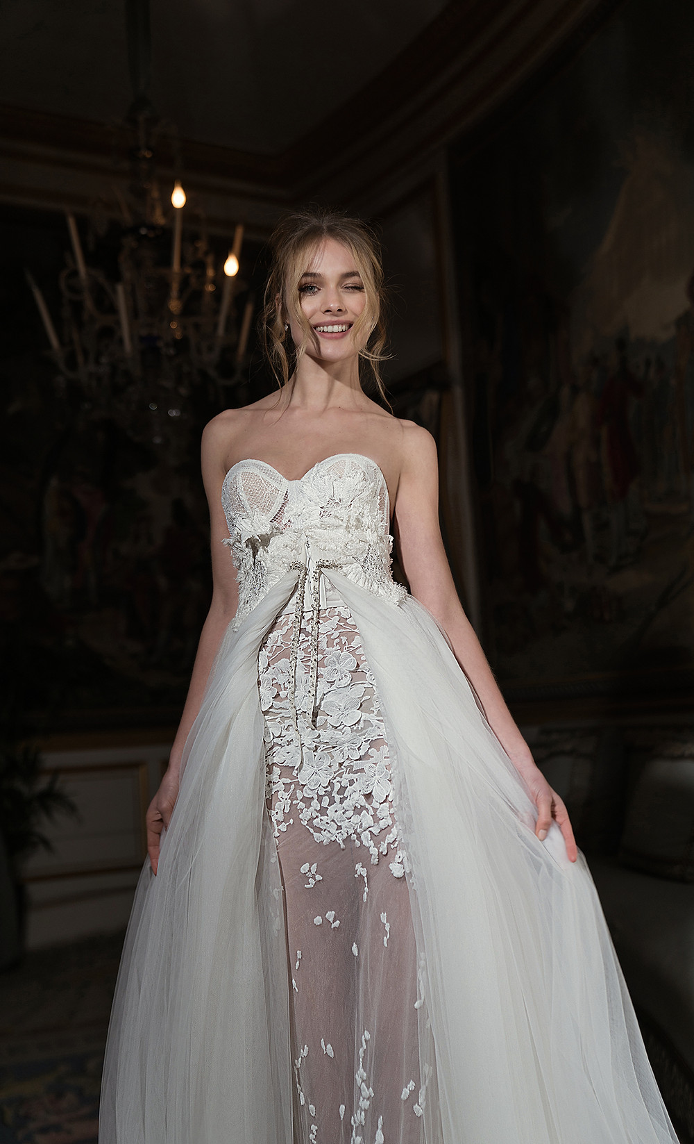Weddinspired | 50+ Detachable Skirt Wedding Dresses | Inbal Dror from the 2018 collection