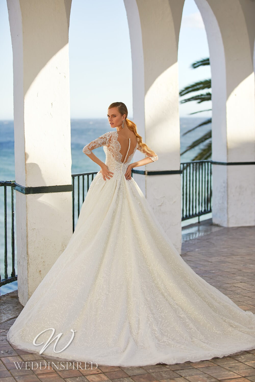 An Essential by Lussano 2021 lace princess wedding dress with long sleeves
