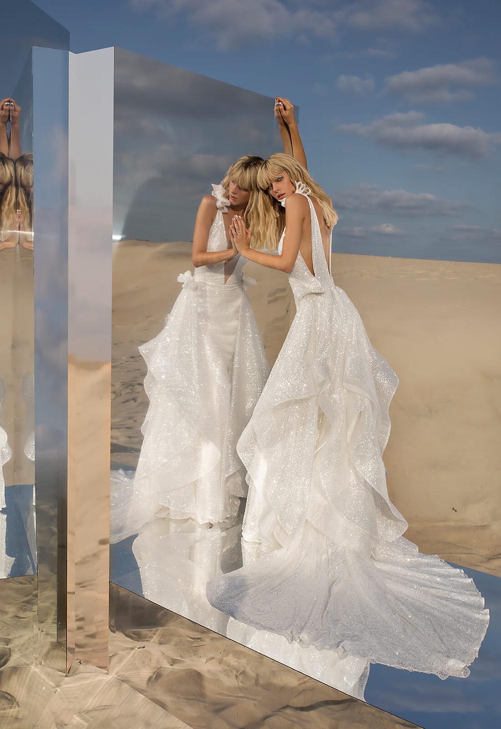 Weddinspired | 50+ Detachable Skirt Wedding Dresses | Pnina Tornai from the Fragile collection