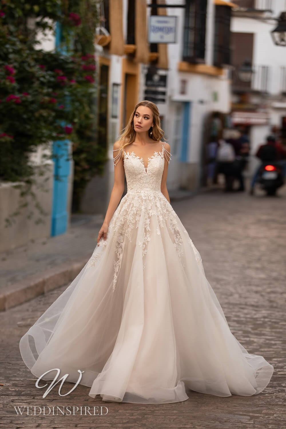 An Essential by Lussano 2021 romantic lace and tulle princess wedding dress