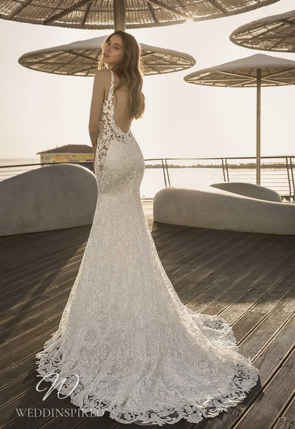 A Pnina Tornai 2021 backless lace mermaid wedding dress