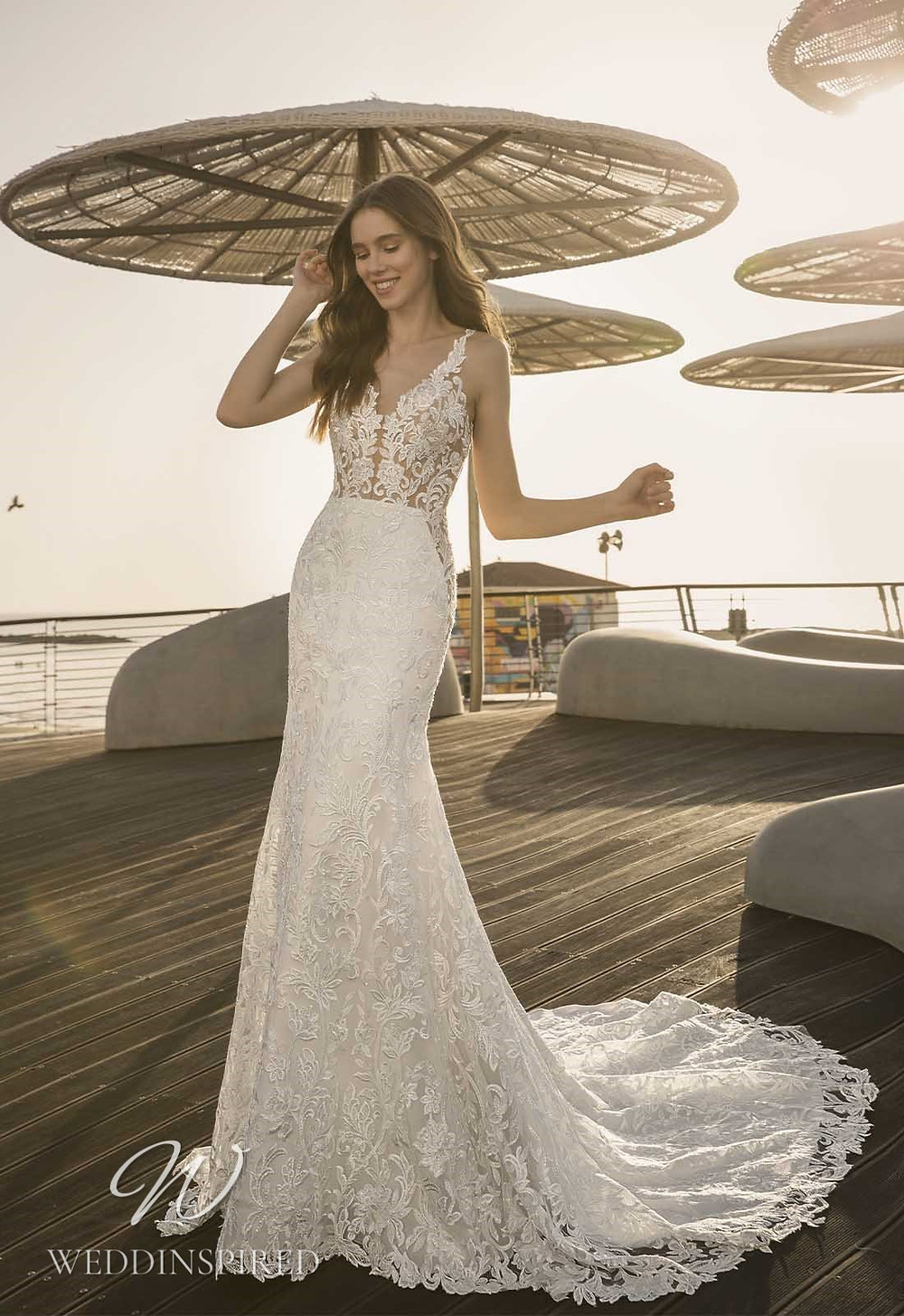 A Pnina Tornai 2021 lace mermaid wedding dress