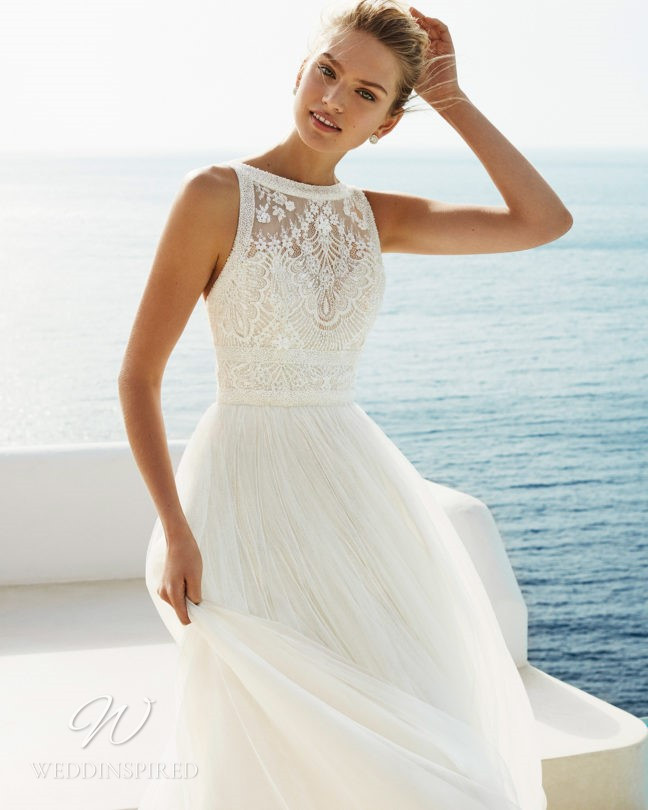 An Aire Barcelona 2021 tulle and lace A-line wedding dress