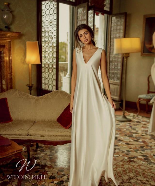 A Rara Avis 2021 simple silk sheath wedding dress