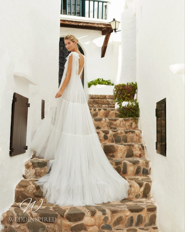 An Aire Barcelona 2021 flowy tulle A-line wedding dress