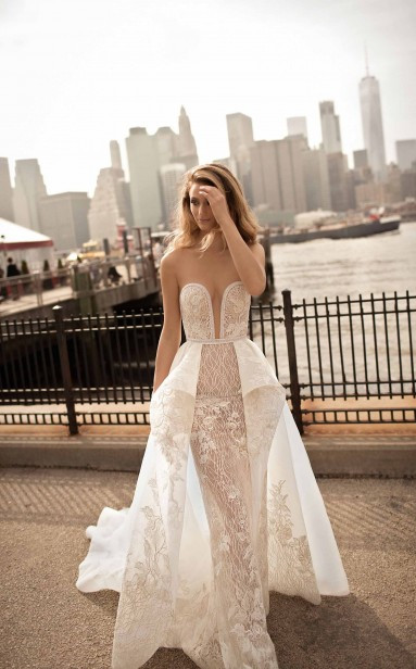 Weddinspired | 50+ Detachable Skirt Wedding Dresses | Berta from the S/S 2018 collection