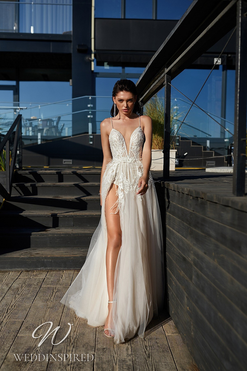 An Ida Torez 2021 tulle and lace A-line wedding dress
