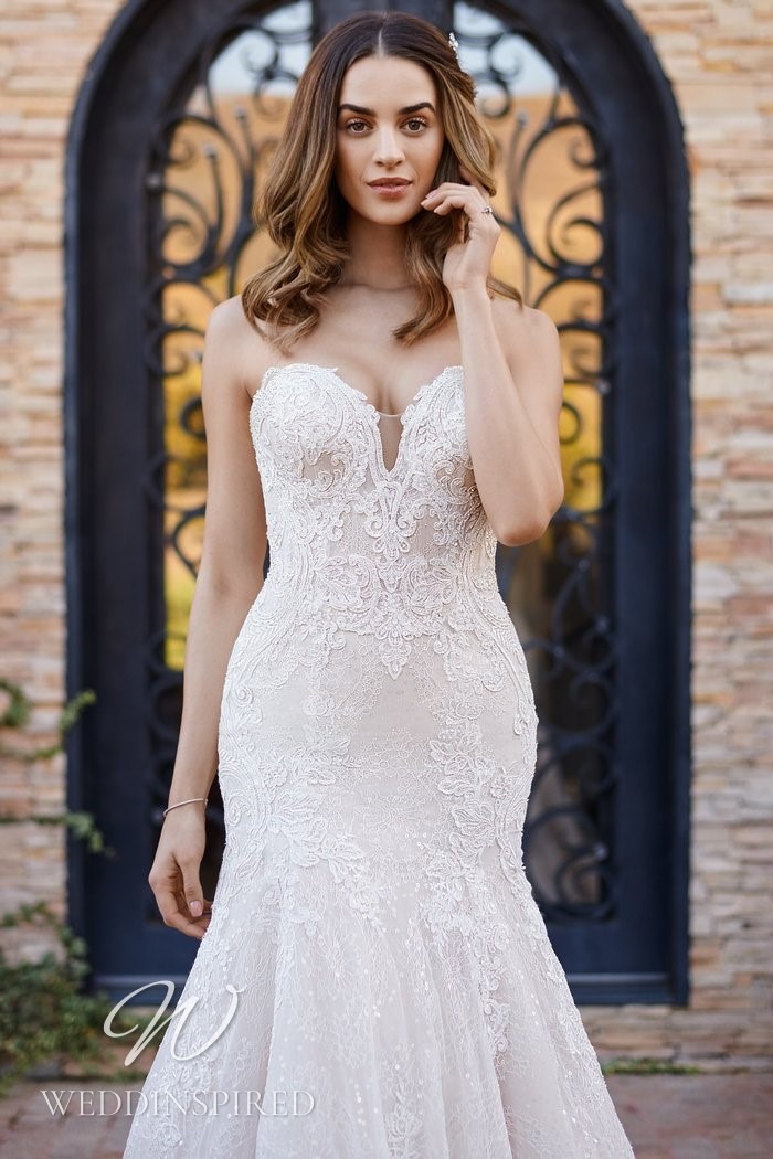 A Kenneth Winston 2021 strapless mermaid wedding dress