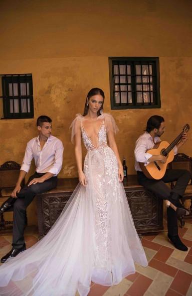 Weddinspired | 50+ Detachable Skirt Wedding Dresses | Berta from the F/W 2018 collection