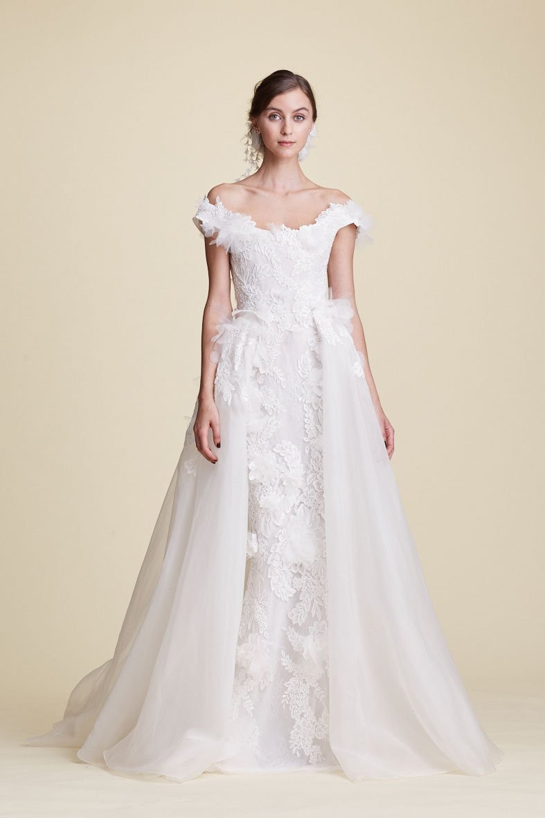 Weddinspired | 50+ Detachable Skirt Wedding Dresses | Marchesa from the Fall 2018 collection