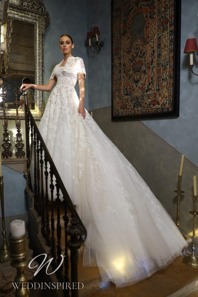 A Georges Hobeika 2021 lace princess wedding dress
