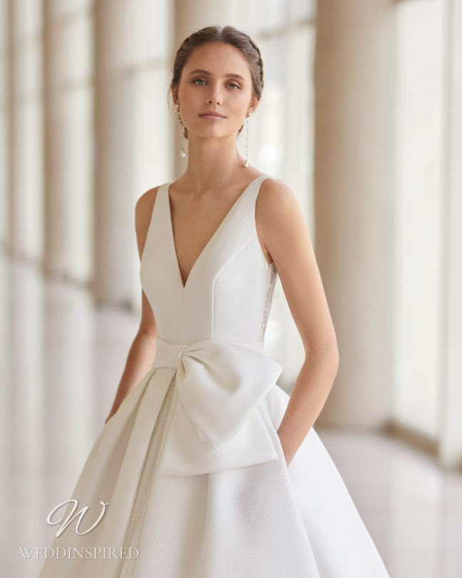 An Aire Barcelona 2021 princess ball gown wedding dress with a v neck