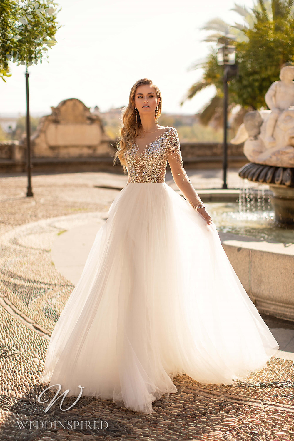 An Essential by Lussano 2021 sparkly tulle A-line wedding dress