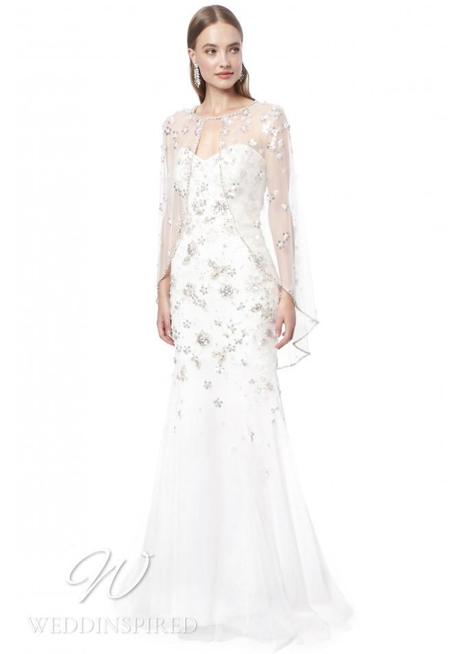 A Jenny Packham 2021 strapless A-line wedding dress