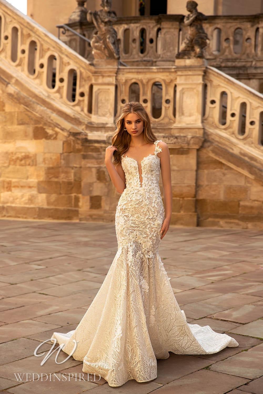 A WONÁ Concept 2021 ivory lace mermaid wedding dress