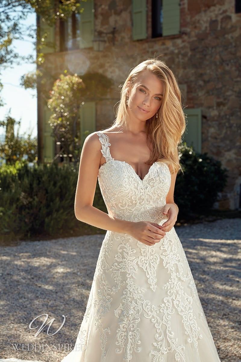 An Eddy K 2021 lace A-line wedding dress