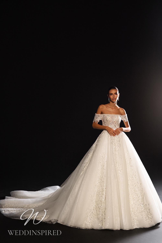 A WONÁ Concept 2021 off the shoulder tulle princess wedding dress