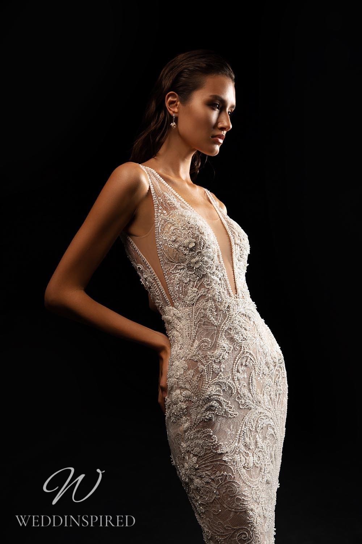 A WONÁ Concept 2021 lace mermaid wedding dress with a v neck