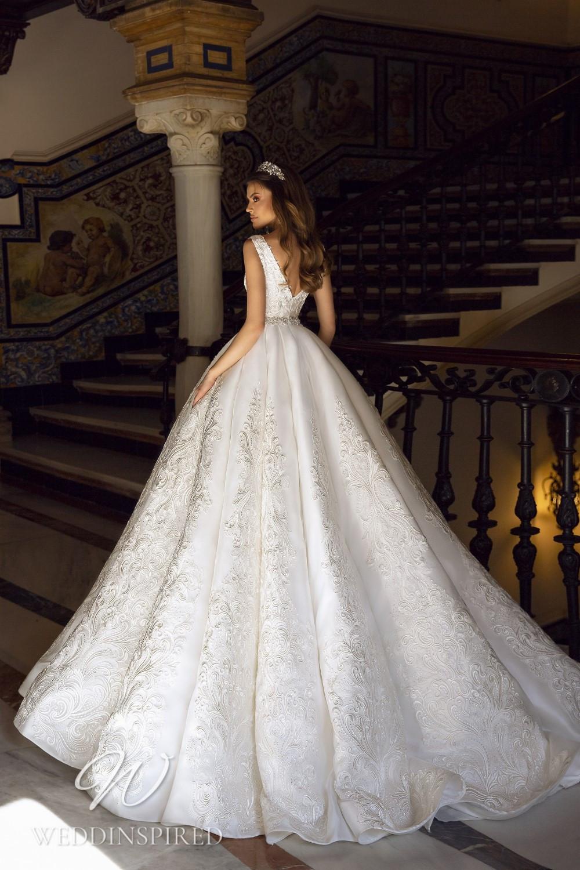 A Maks Mariano satin princess wedding dress