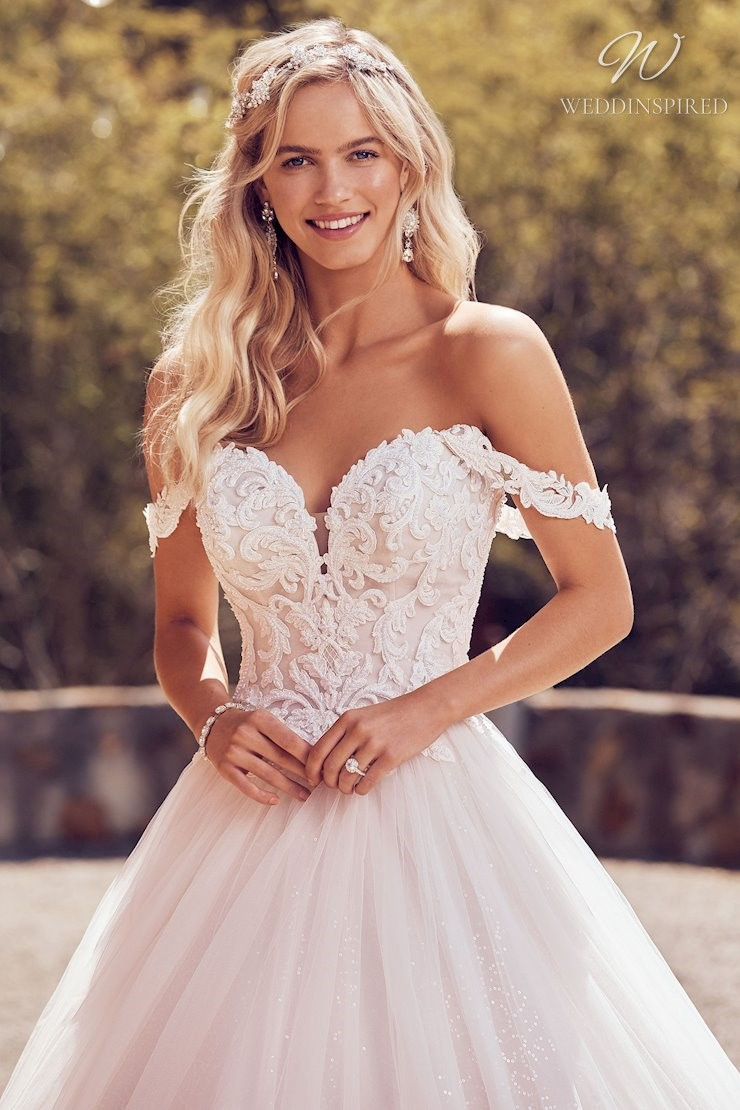 A Sophia Tolli lace and tulle ball gown wedding dress