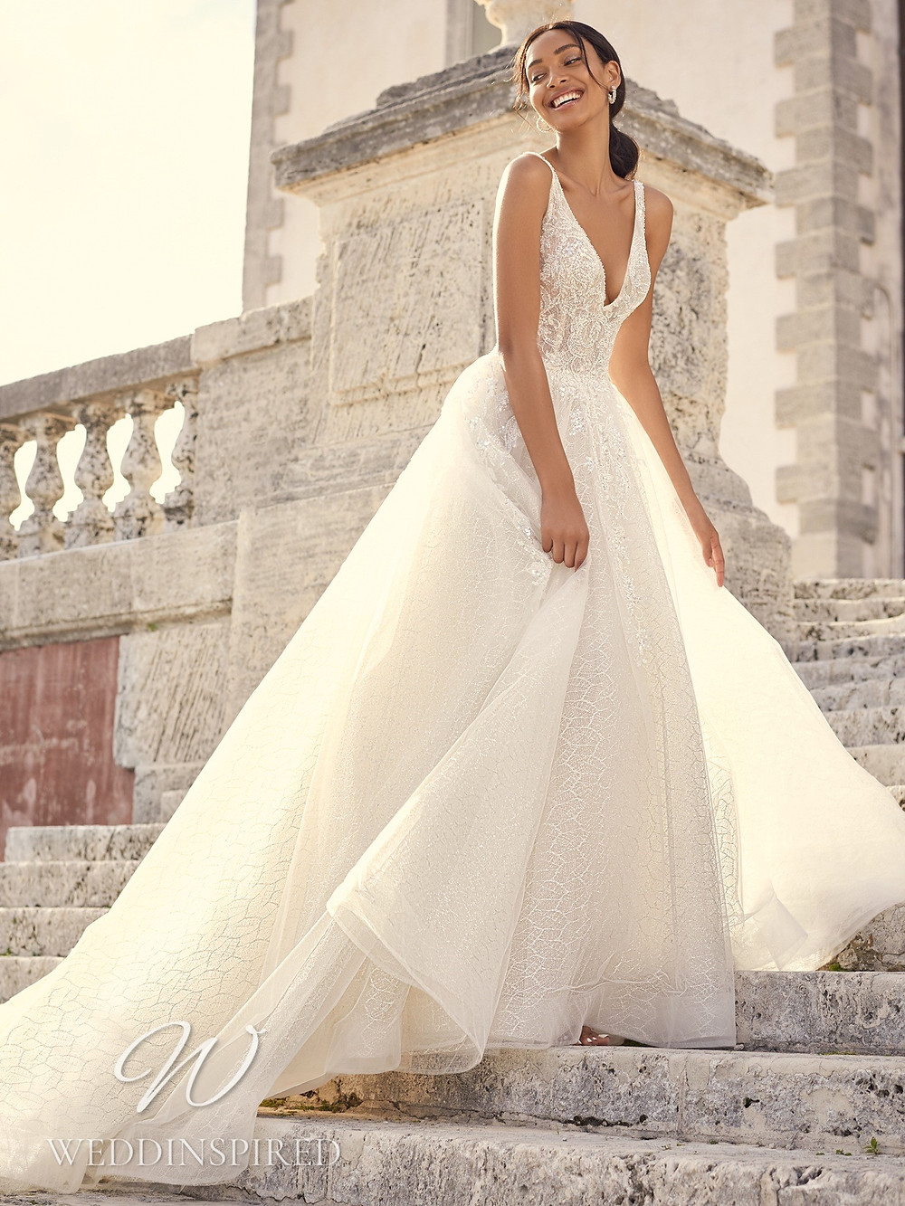 A Sottero & Midgley 2021 lace and tulle princess wedding dress