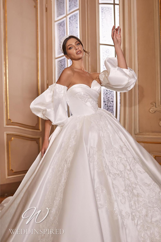 A Ricca Sposa 2022 strapless satin princess wedding dress