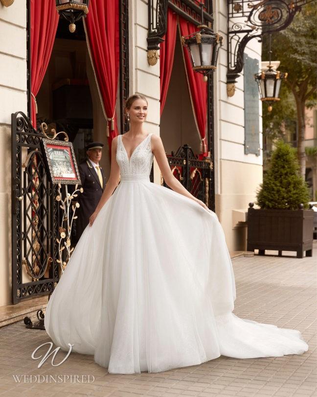 An Aire Barcelona 2021 tulle A-line wedding dress
