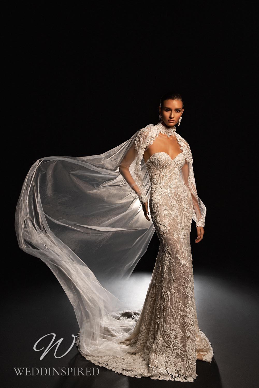 A WONÁ Concept 2021 strapless lace mermaid wedding dress