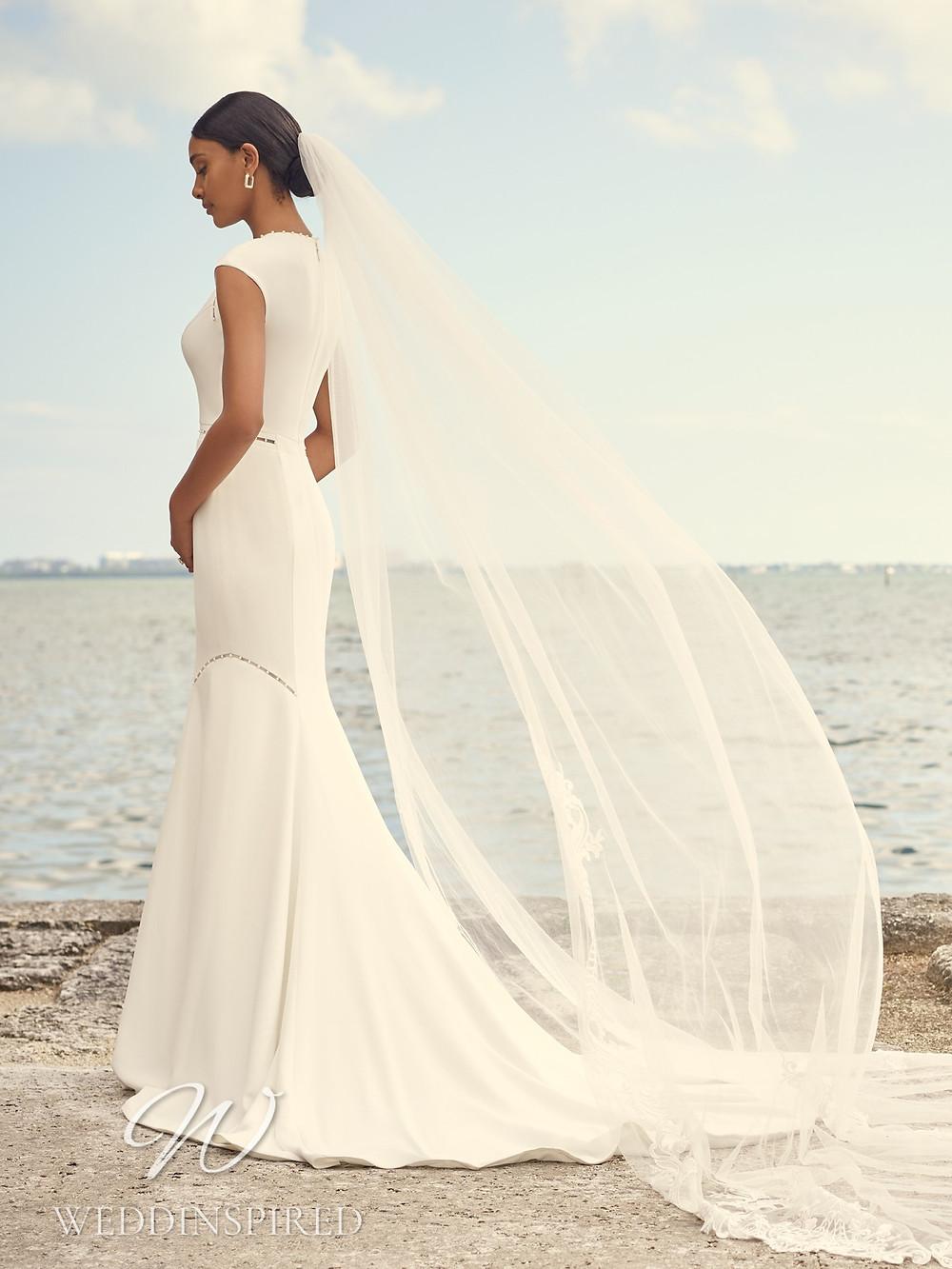 A Sottero & Midgley 2021 simple crepe mermaid wedding dress