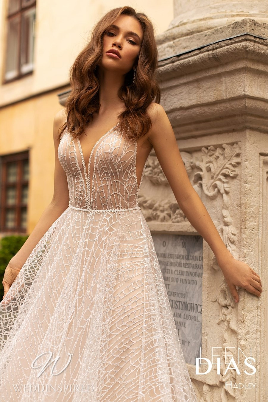 A Leen Dias 2021 tulle A-line wedding dress