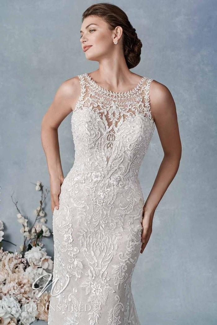 A Kenneth Winston 2021 lace mermaid wedding dress