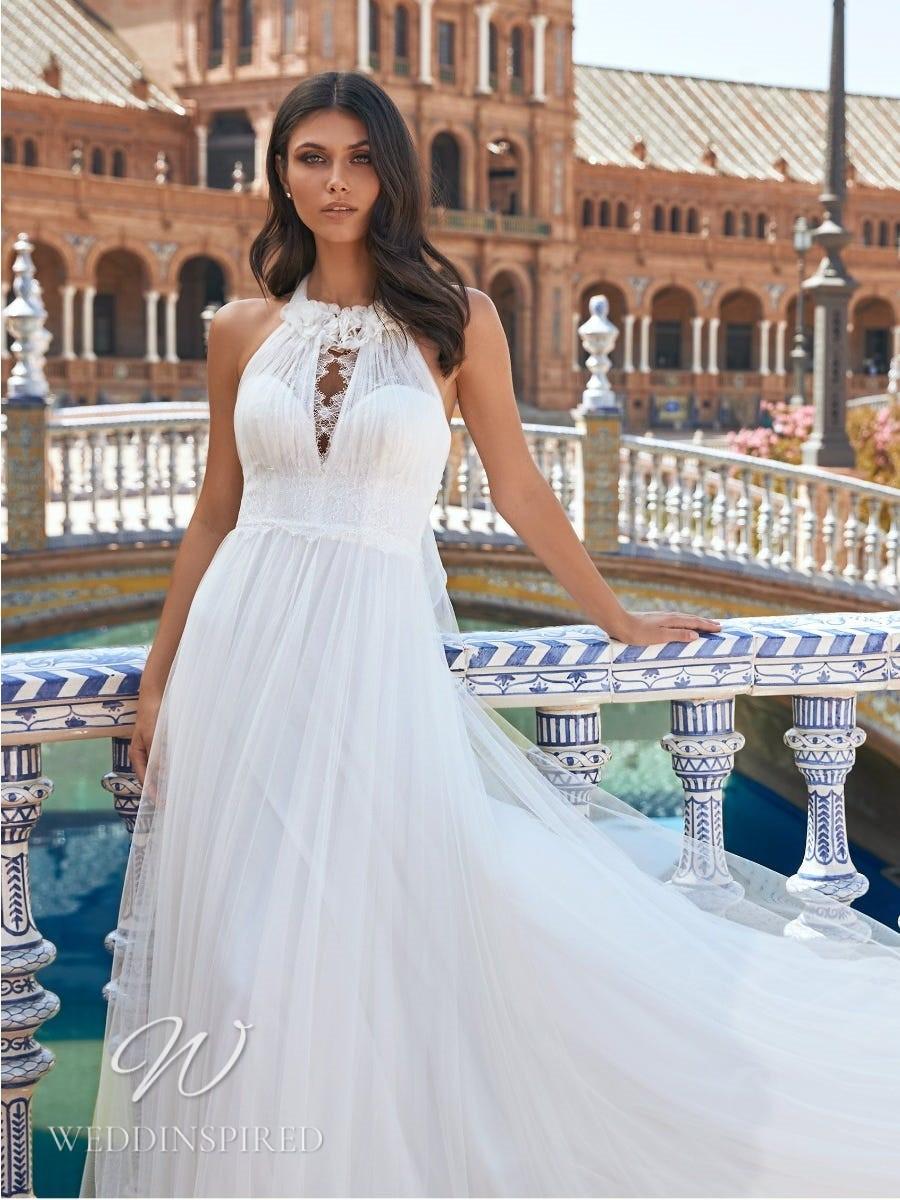 A Marchesa for Pronovias 2022 halterneck tulle A-line wedding dress