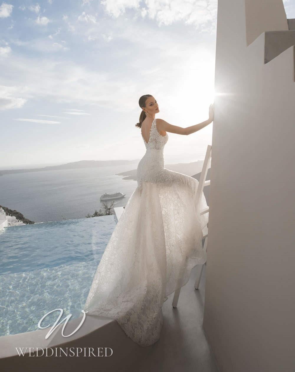 A Blunny 2021 lace A-line wedding dress
