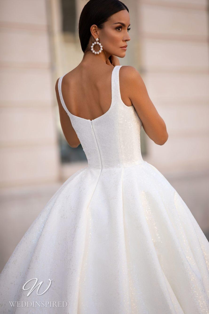 A Milla Nova gorgeous princess ball gown wedding dress with straps