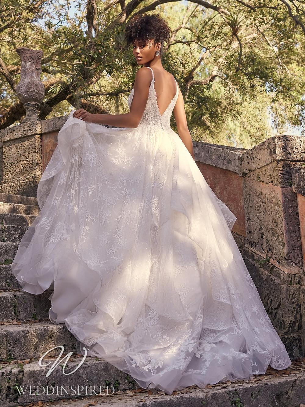 A Maggie Sottero 2021 romantic lace A-line wedding dress