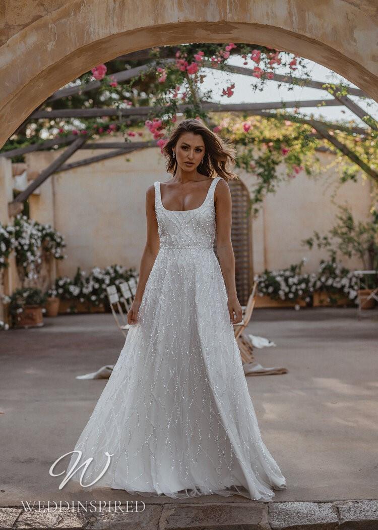 An Anna Campbell 2021 sparkly tulle A-line wedding dress