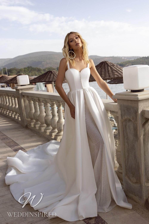 A Tina Valerdi satin princess wedding dress
