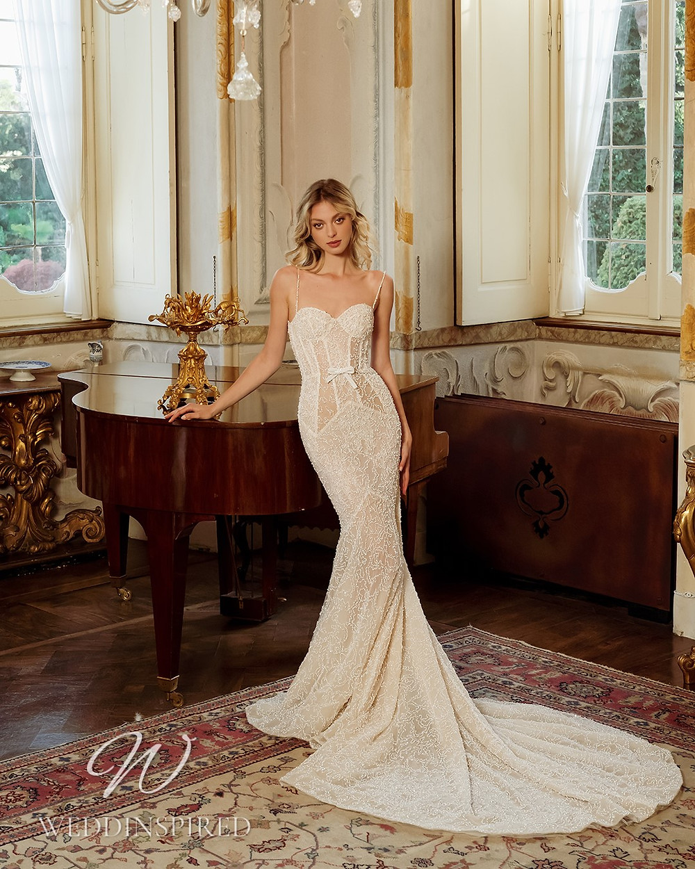 A Berta 2022 lace mermaid wedding dress