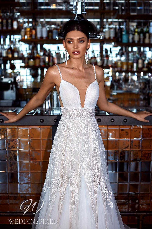 An Ida Torez 2021 tulle boho A-line wedding dress