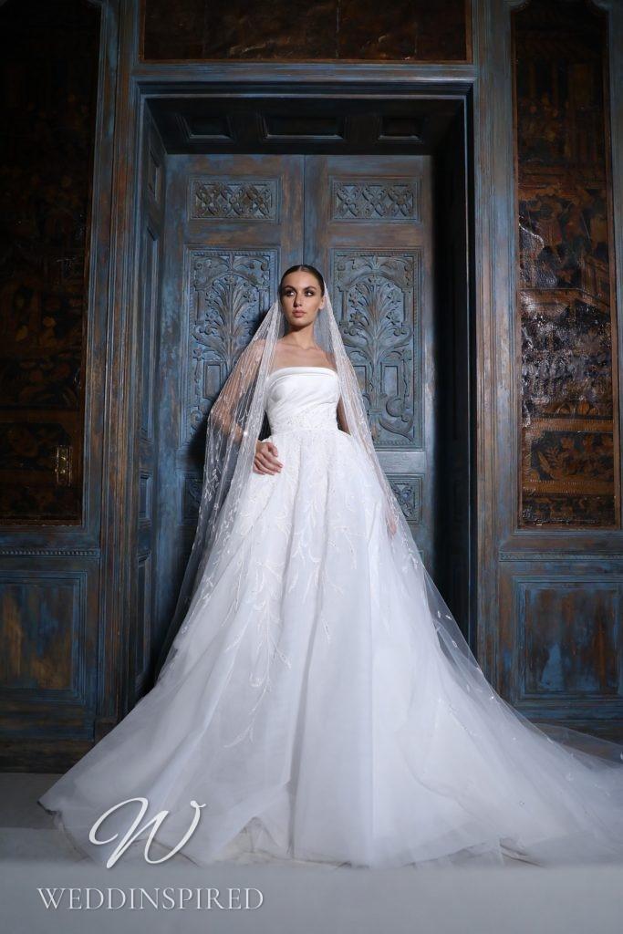A Georges Hobeika 2021 strapless tulle princess wedding dress