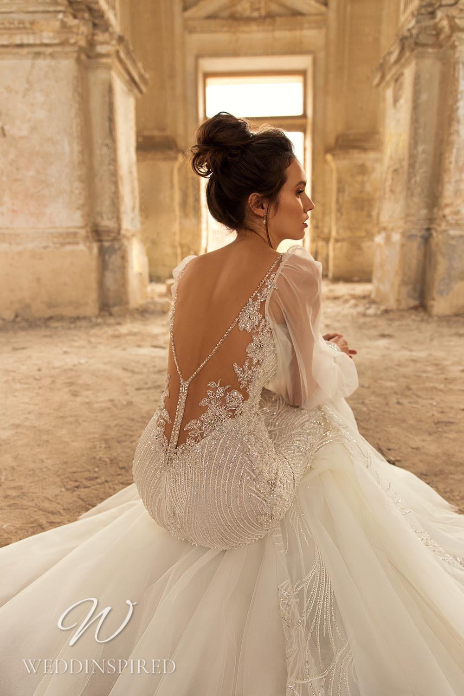 An Eva Lendel 2021 tulle backless mermaid wedding dress