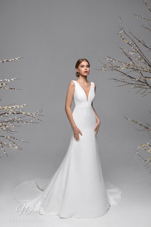 A Ricca Sposa simple mermaid wedding dress