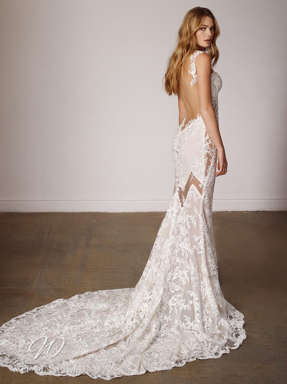 A Galia Lahav 2022 sexy lace mermaid wedding dress with a low back