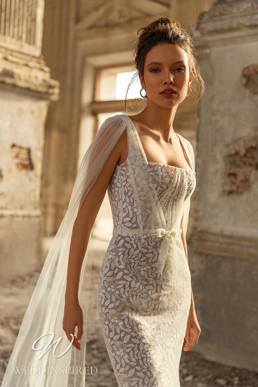An Eva Lendel 2021 lace mermaid wedding dress