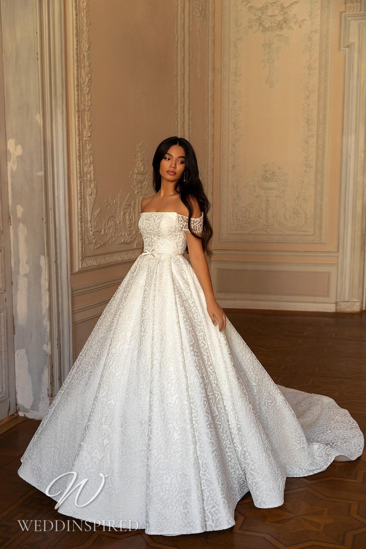 A WONÁ Concept 2021 lace off the shoulder princess wedding dress