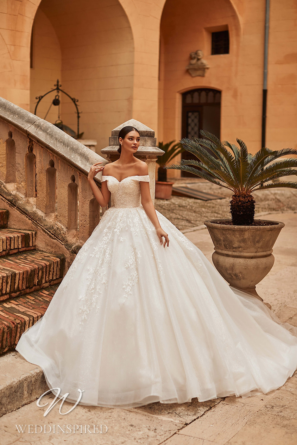 A Royal by Naviblue 2021 lace and tulle off the shoulder princess wedding dress