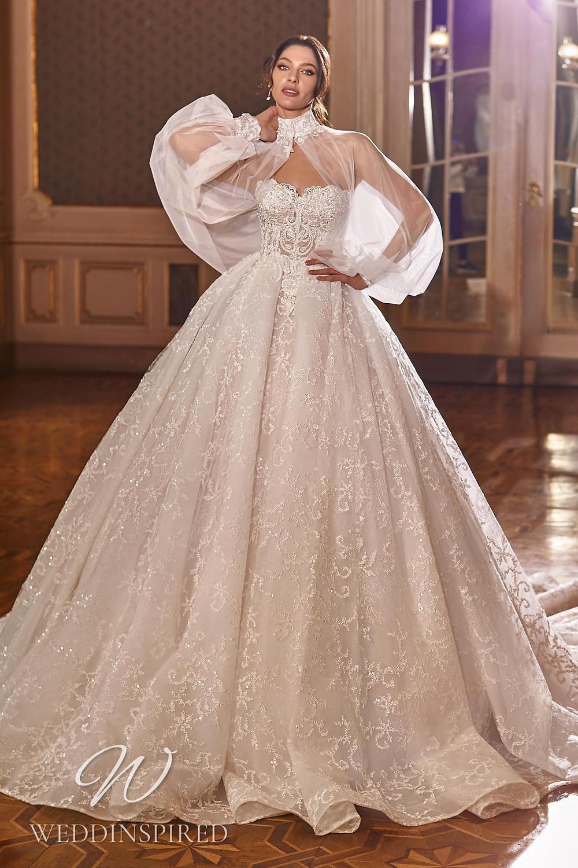 A Ricca Sposa 2022 strapless lace princess wedding dress